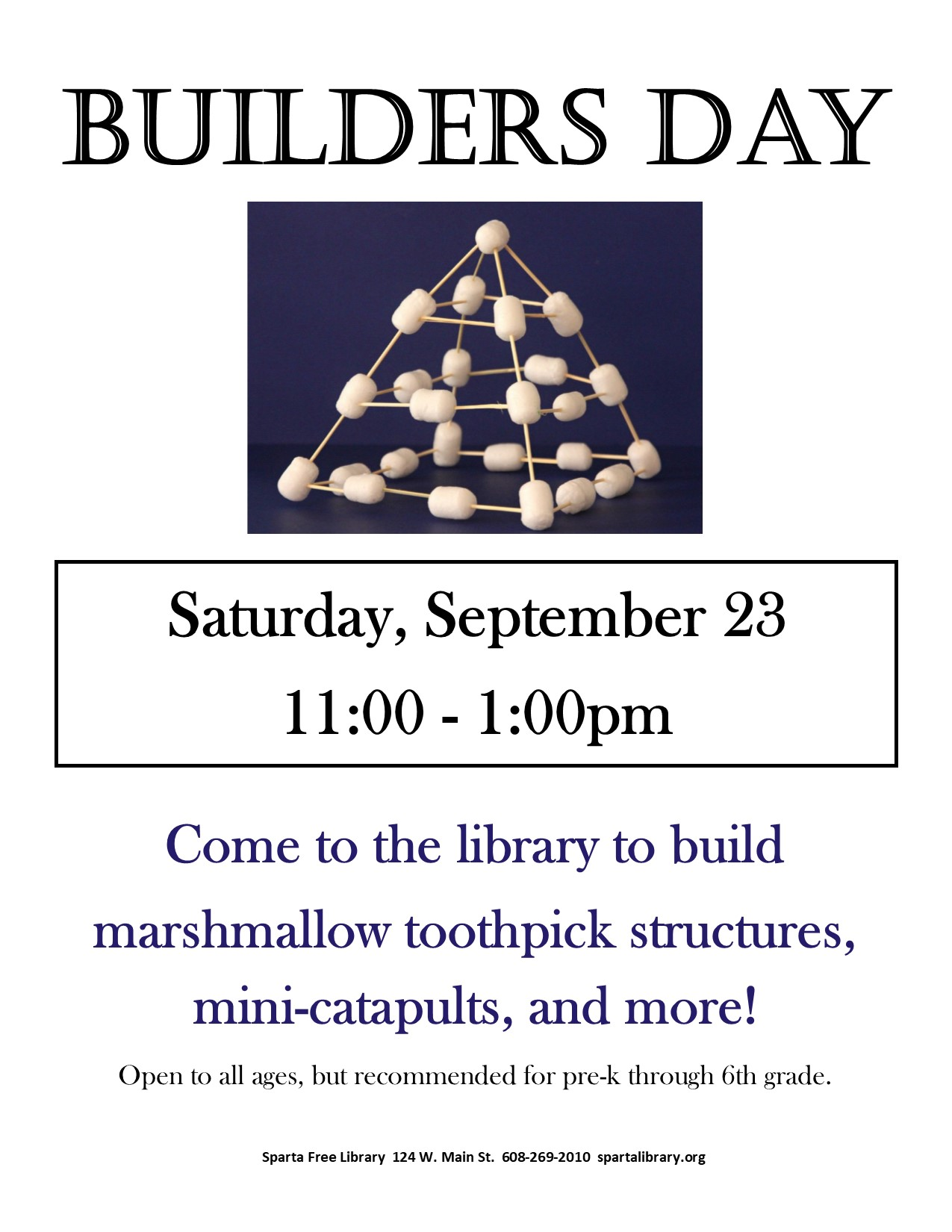 Building Day @ Sparta Free Library | Sparta | Wisconsin | United States