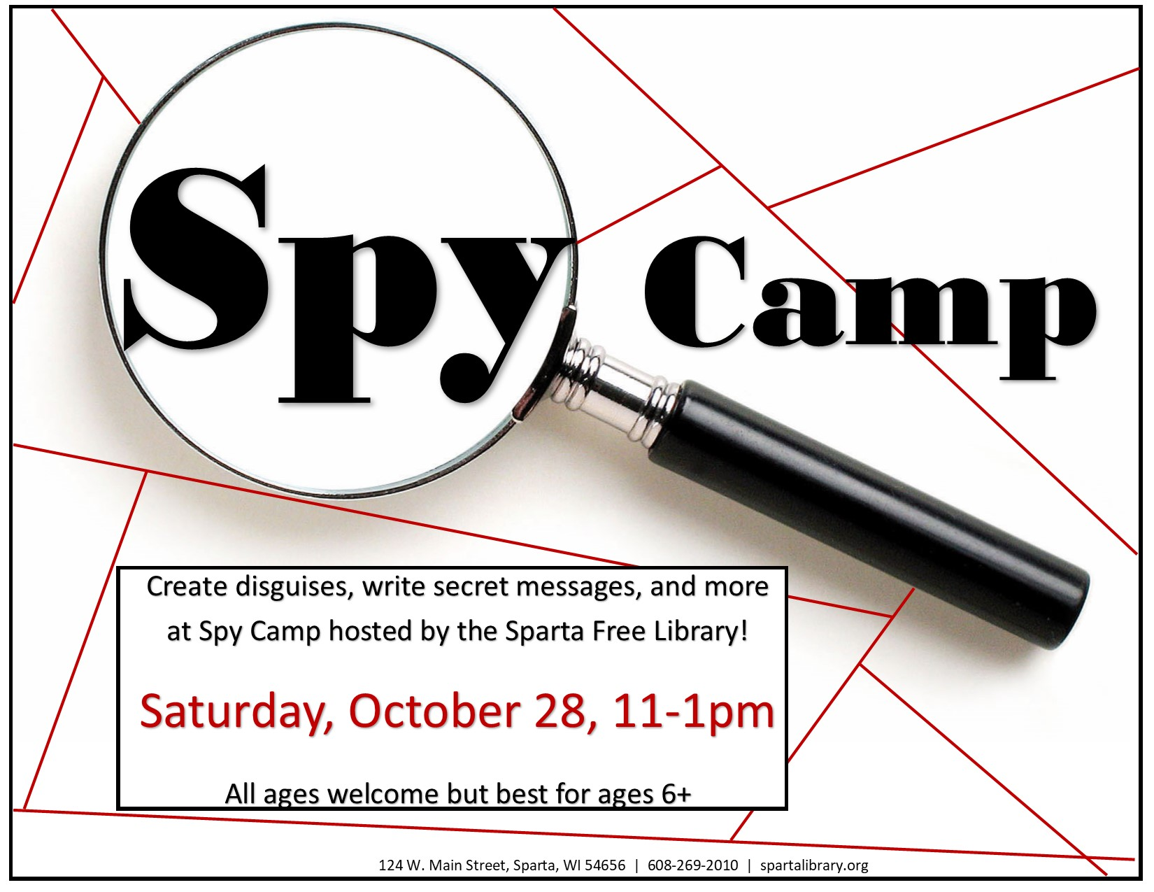 Spy Camp @ Sparta Free Library | Sparta | Wisconsin | United States