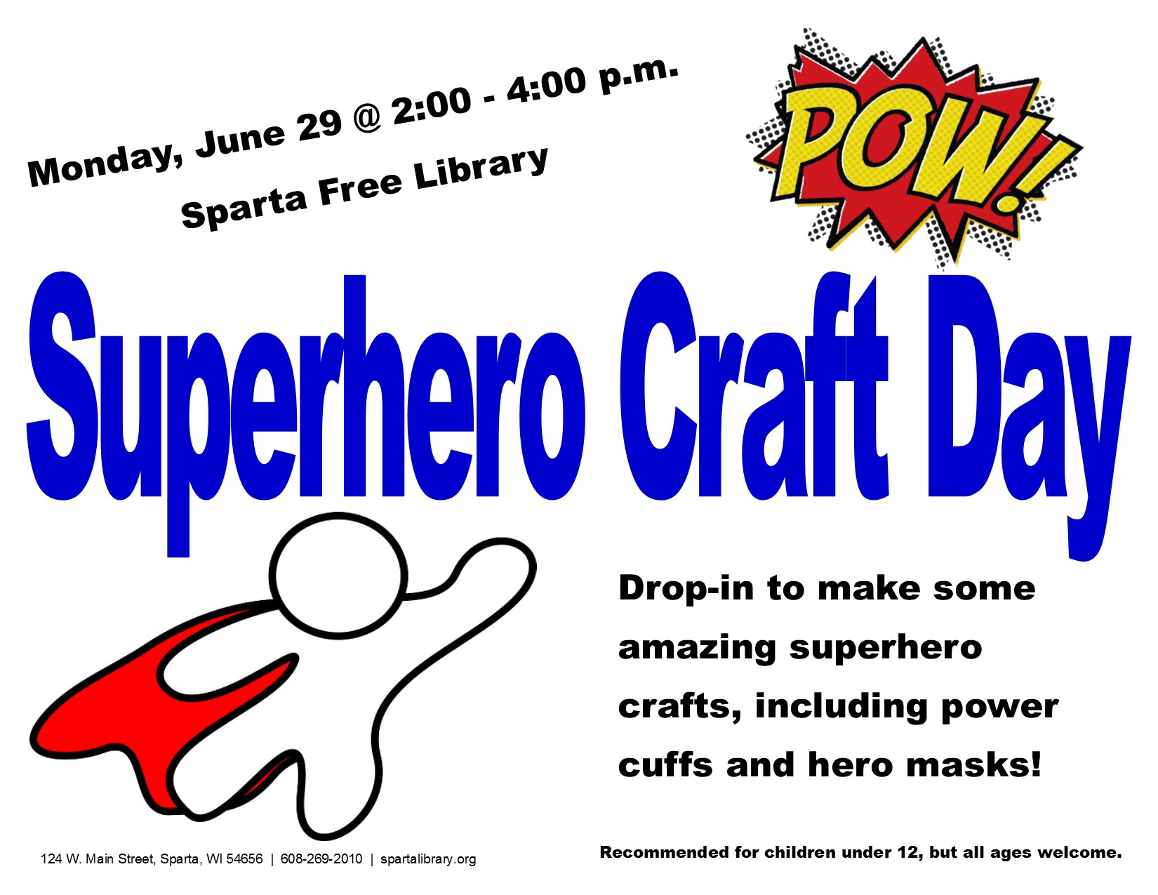 Superhero Craft Day Poster