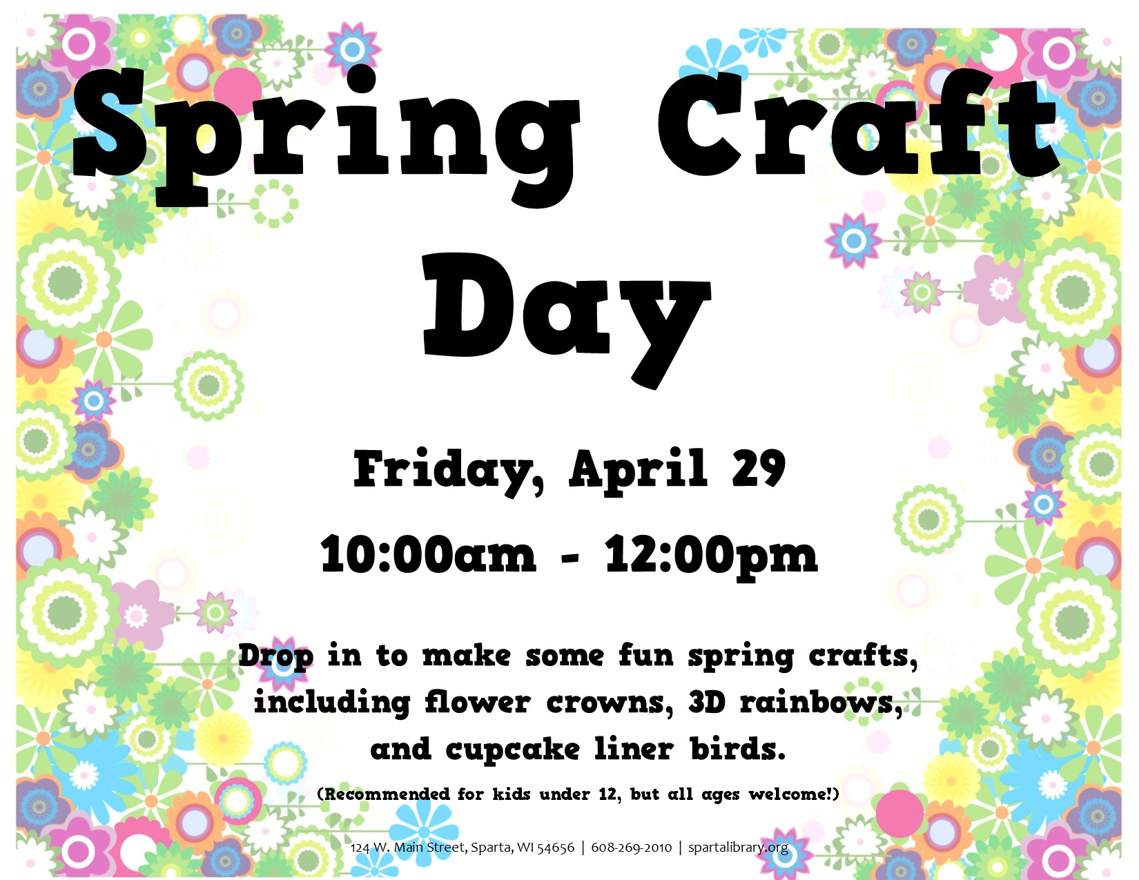 Spring Craft Day event poster