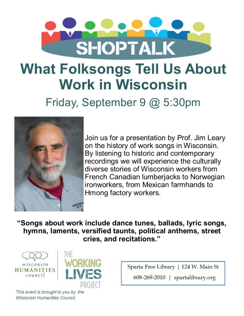 Prof. Jim Leary presents Wisconsin Folksongs