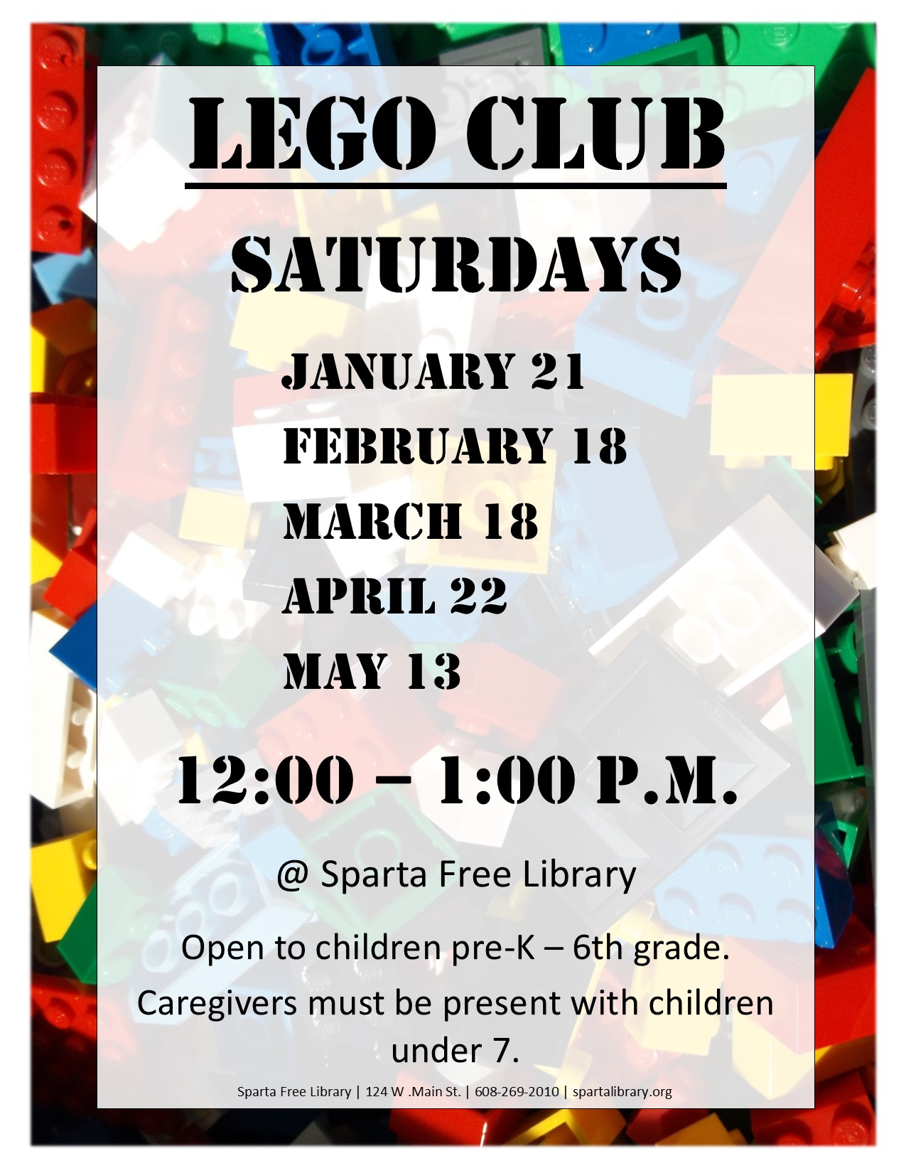 Lego Club Poster Spring 2017
