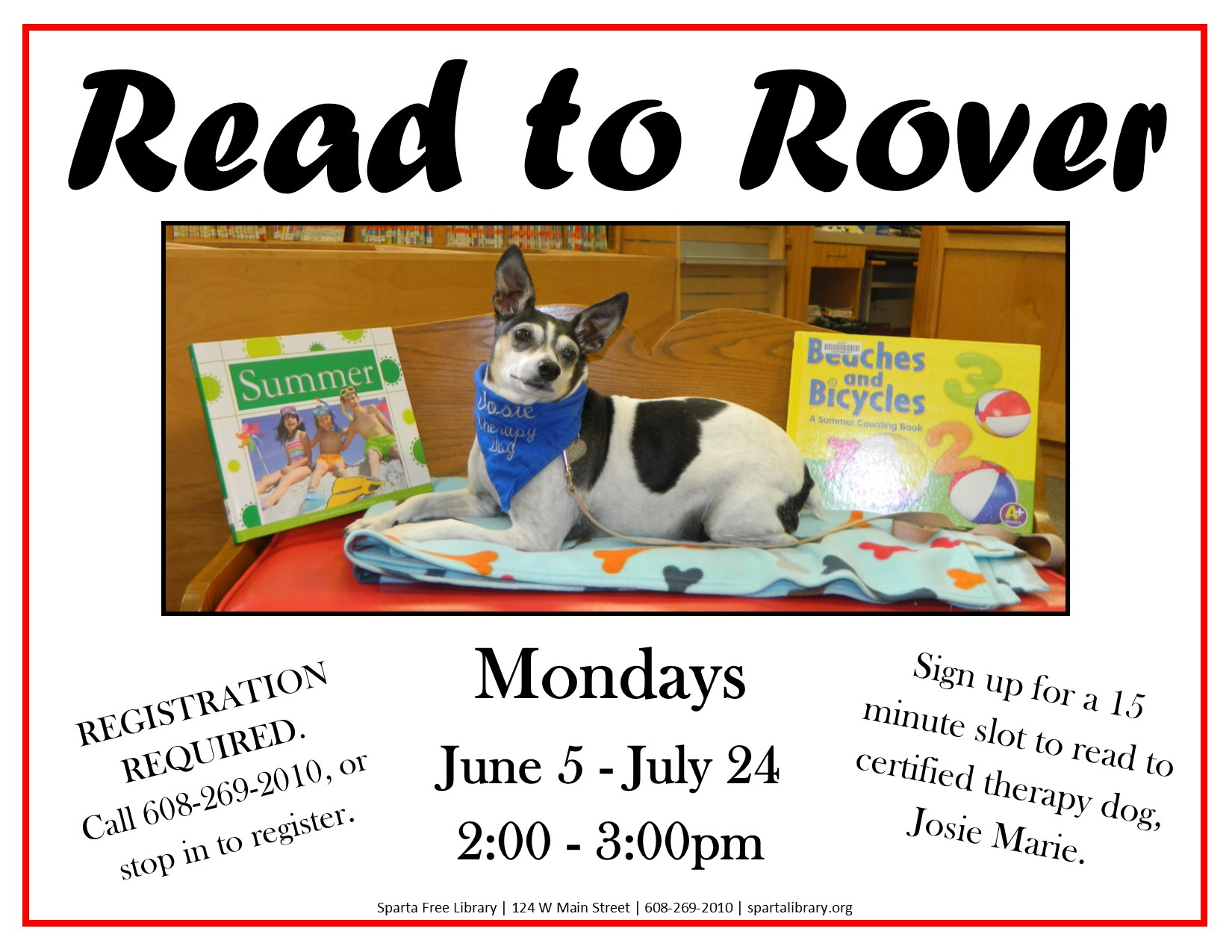 Read to Rover Poster - Summer 2017