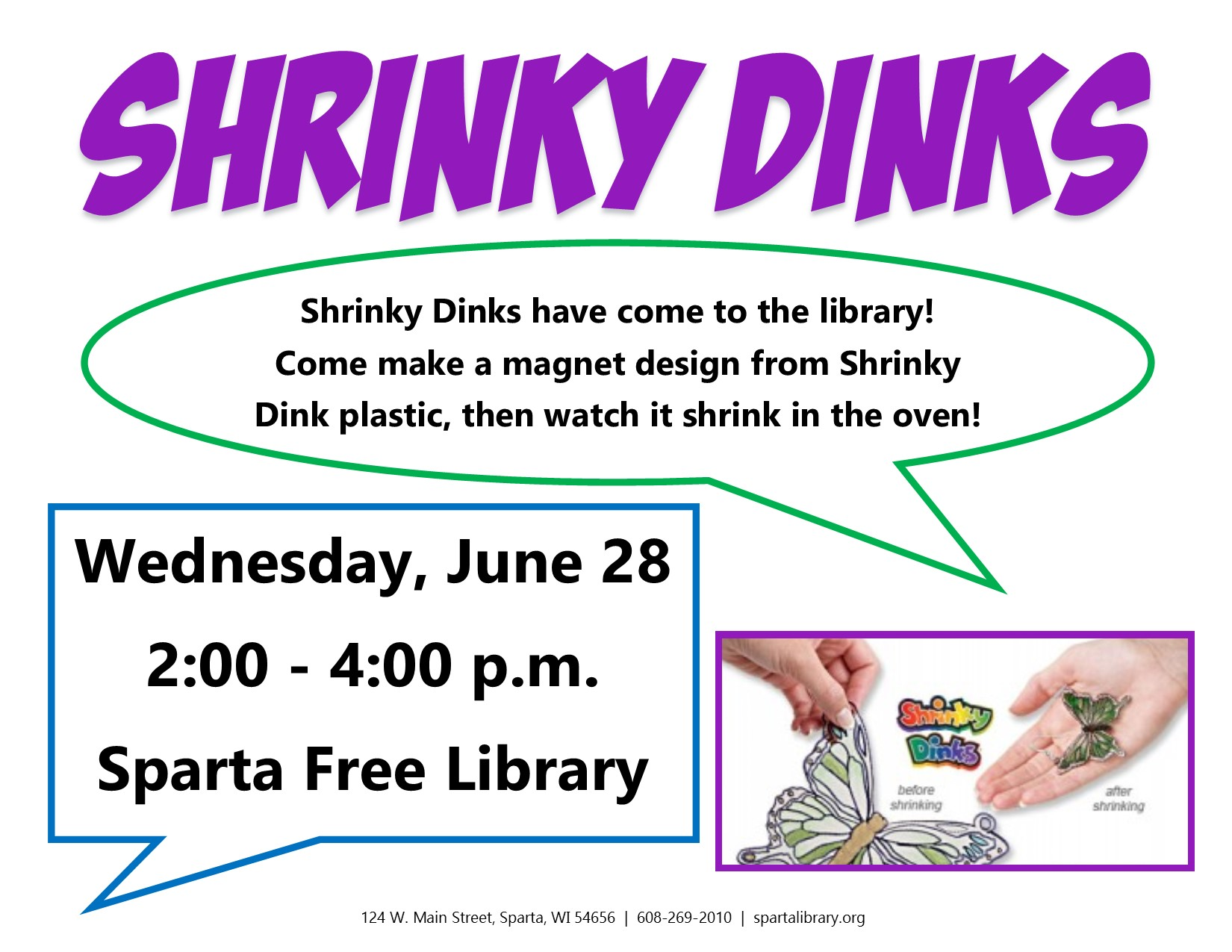 Shrinky Dinks @ Sparta Free Library | Sparta | Wisconsin | United States