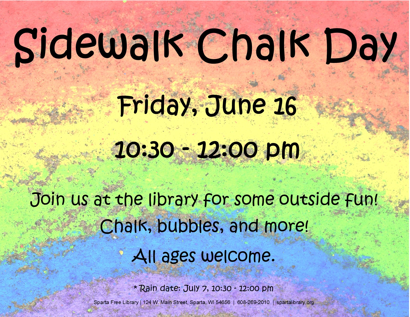 Sidewalk Chalk Day Poster - Summer 2017