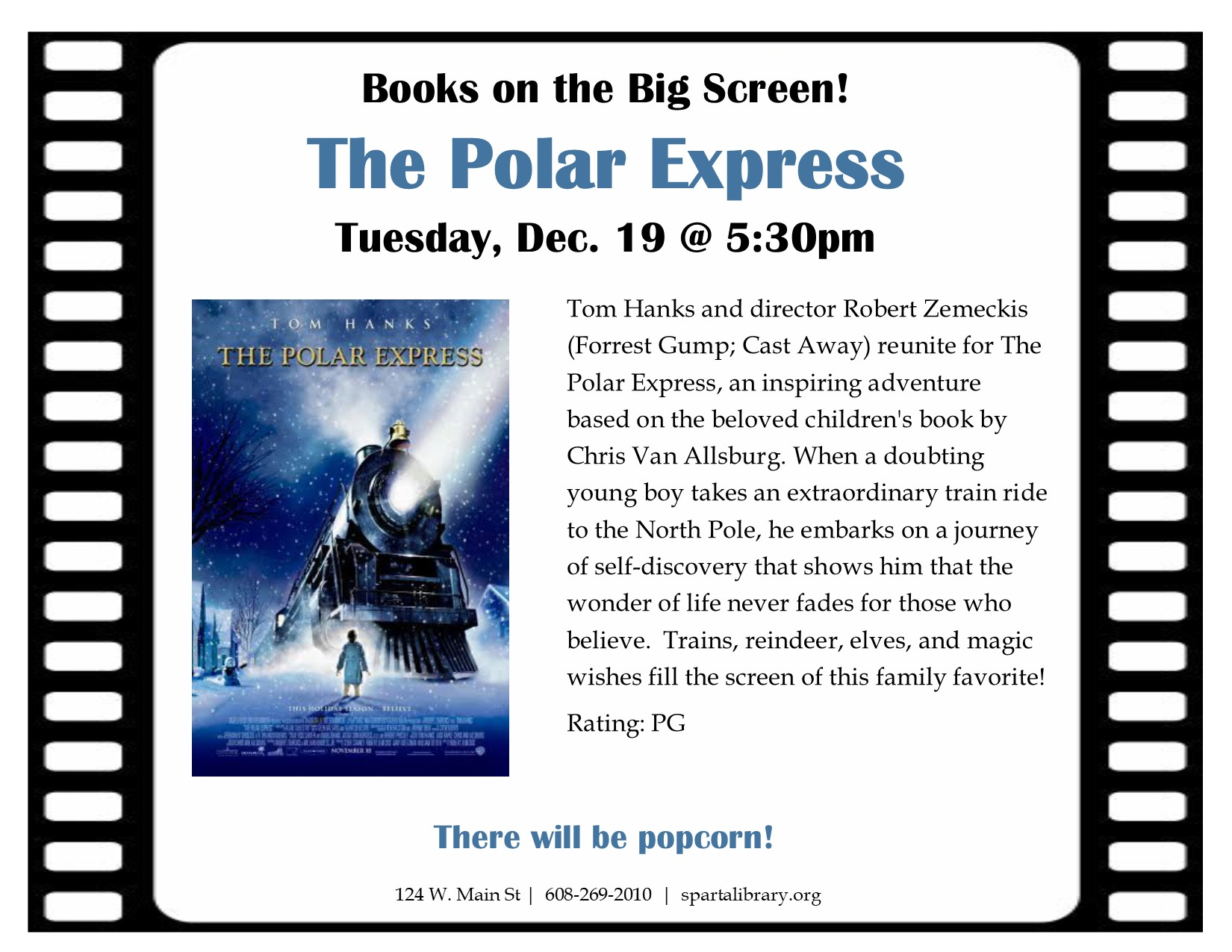 Books on the Big Screen: The Polar Express @ Sparta Free Library | Sparta | Wisconsin | United States