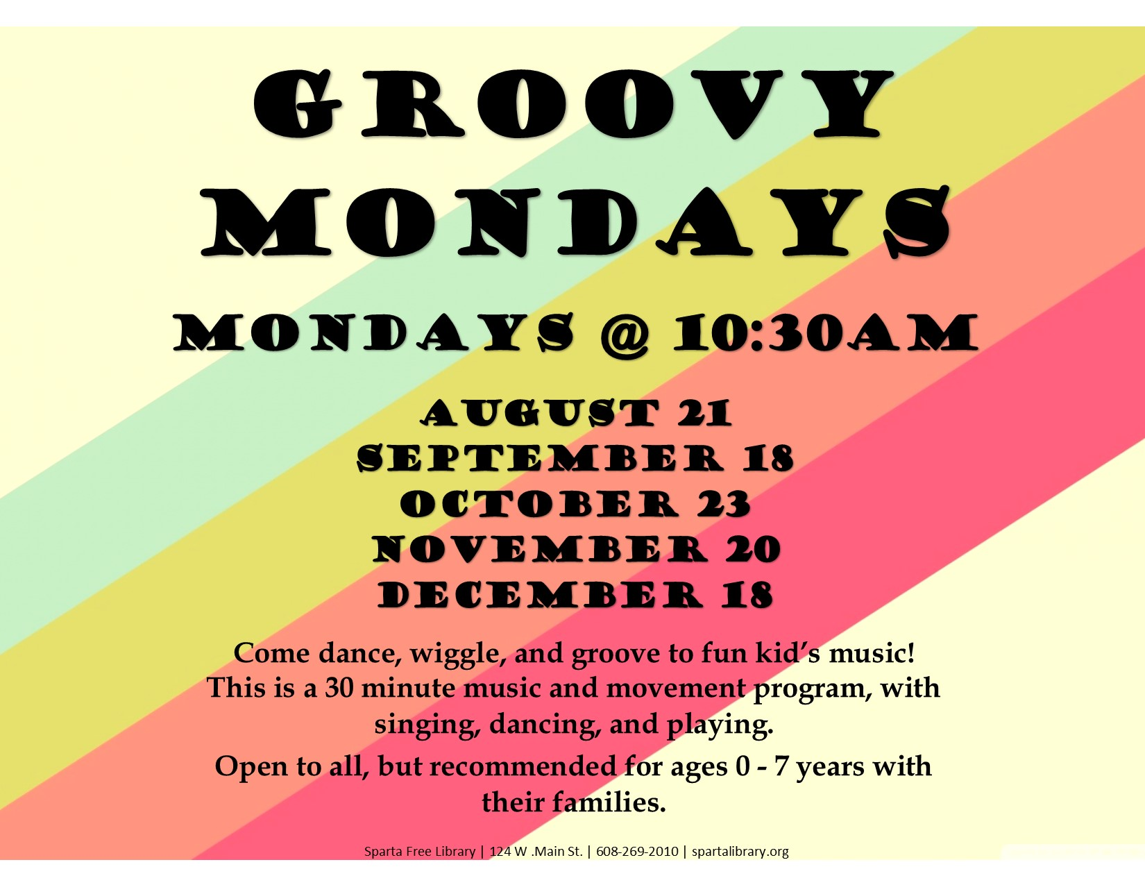 Grooyv Mondays Poster - Fall 2017