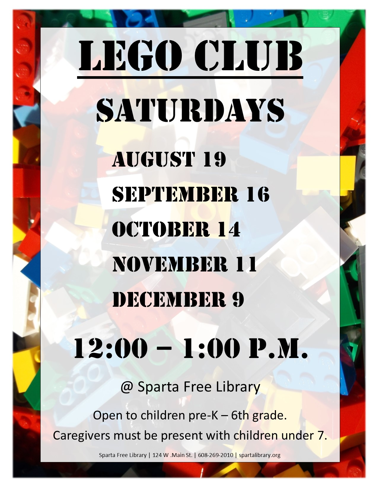 Lego Club Poster - Fall 2017