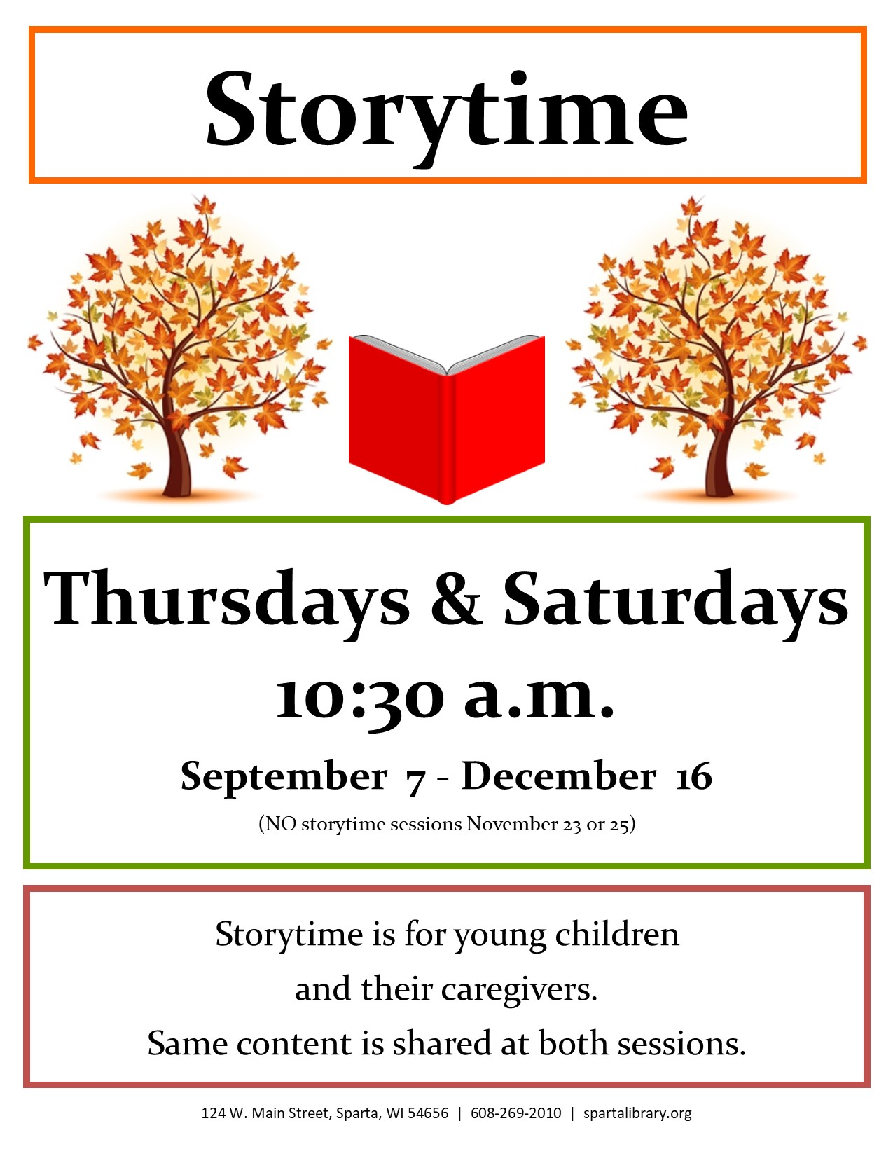 Storytime Poster - Fall 2017