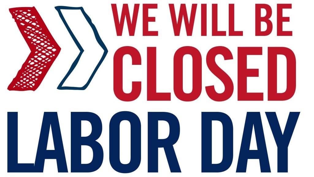Closed for labor day image