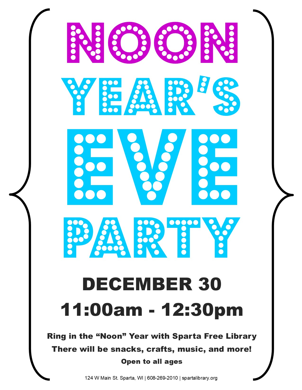 Noon Years Eve Party Poster - 2017