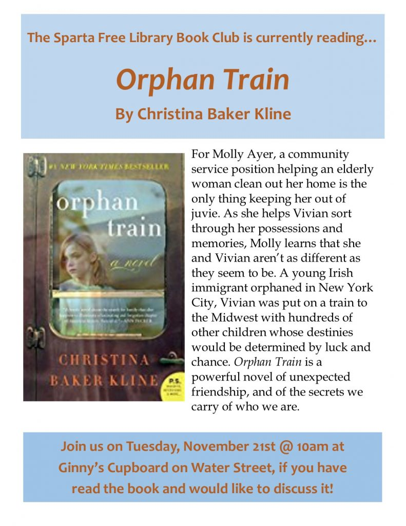 Adult Book Club: Orphan Train