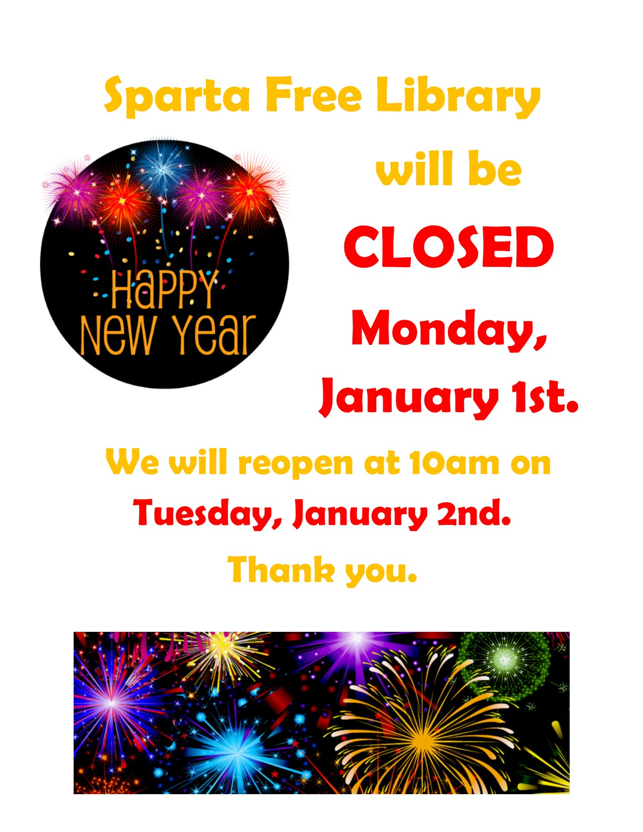 New Years closing poster