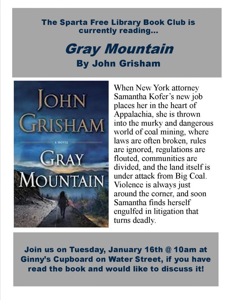 Adult Book Club: Gray Mountain