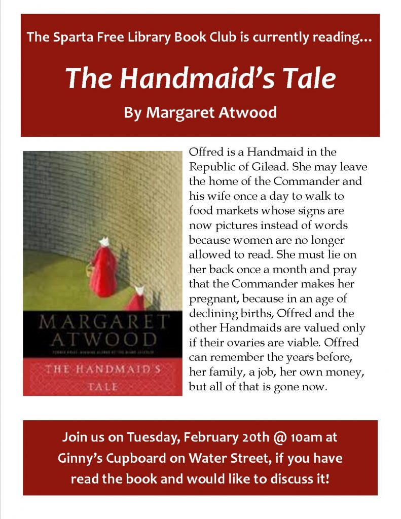 Adult Book Club: The Handmaid's Tale