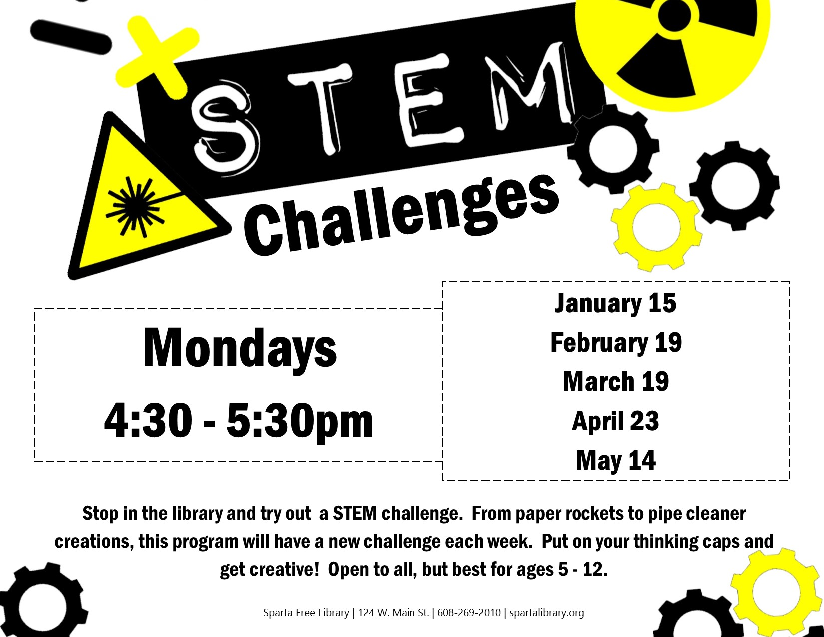 STEM Challenges @ Sparta Free Library | Sparta | Wisconsin | United States