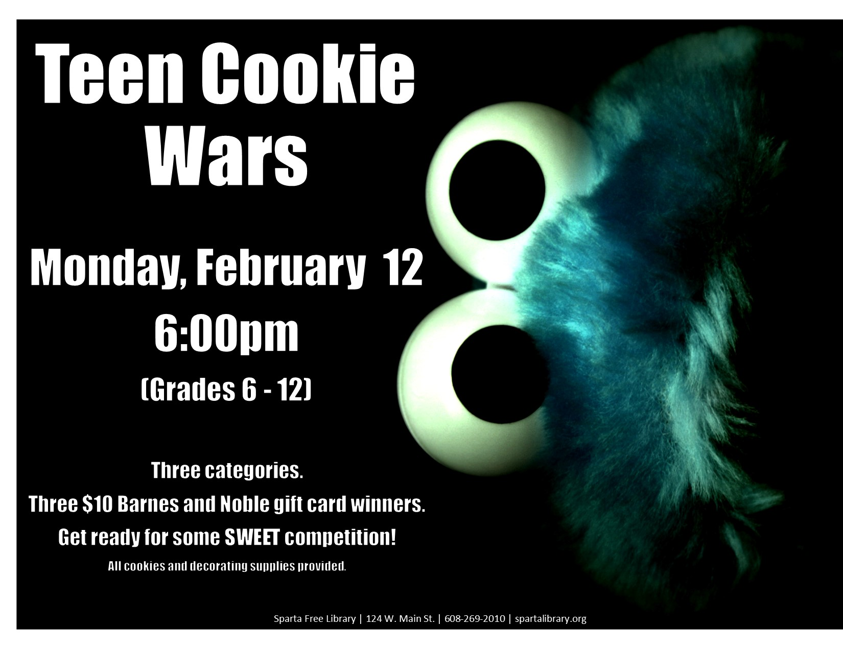 Teen Cookie Wars @ Sparta Free Library | Sparta | Wisconsin | United States