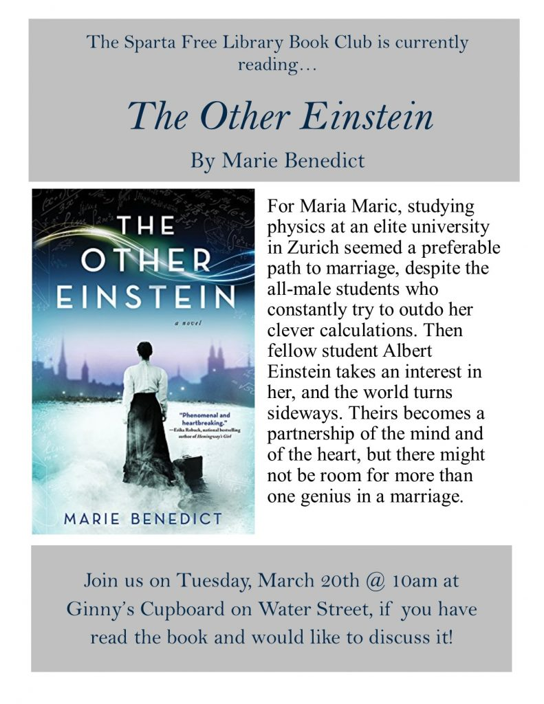 Adult Book Club: The Other Einstein