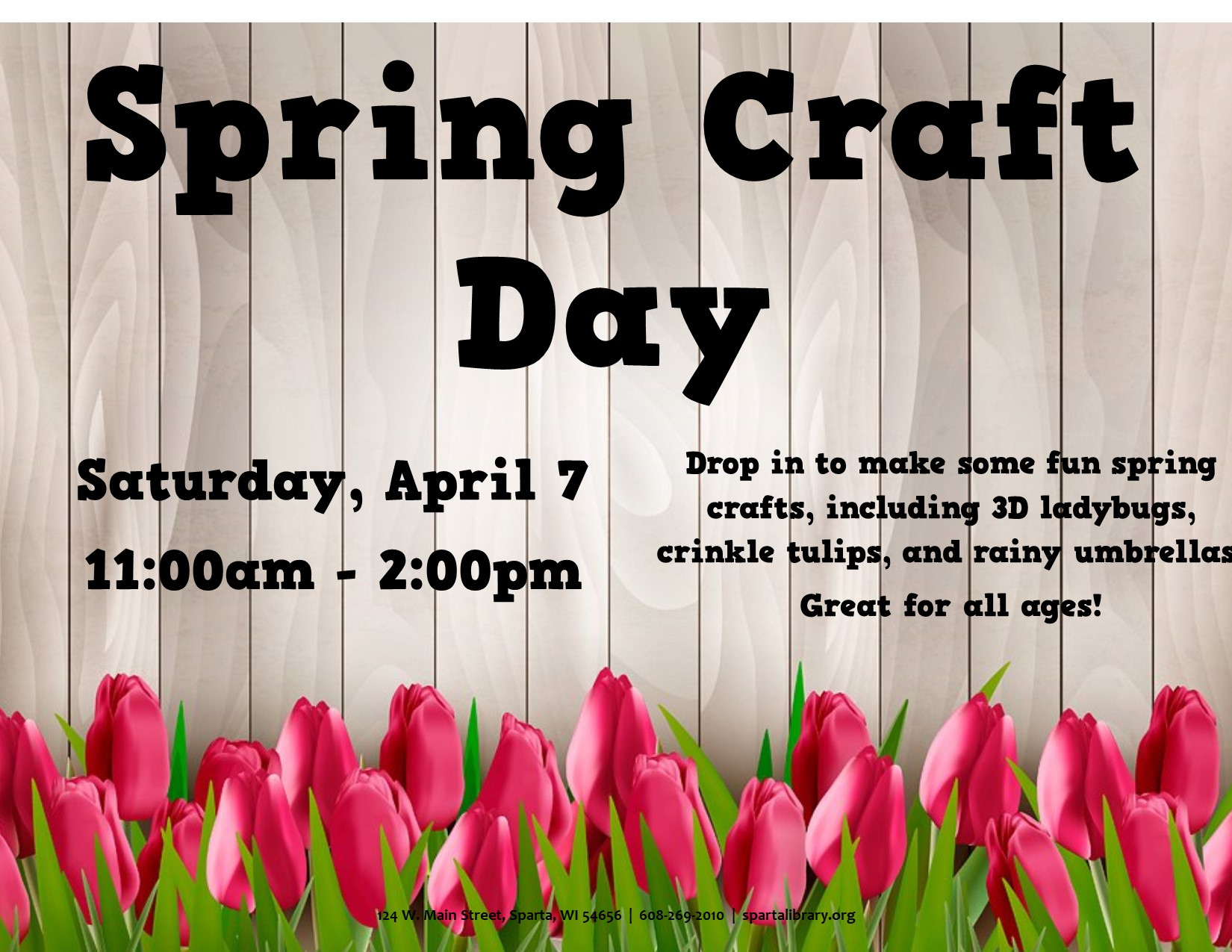 Spring Craft Day @ Sparta Free Library | Sparta | Wisconsin | United States