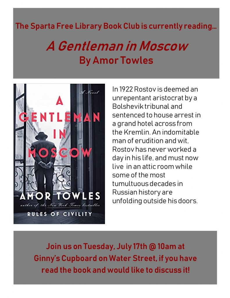 Book Club: A Gentleman in Moscow