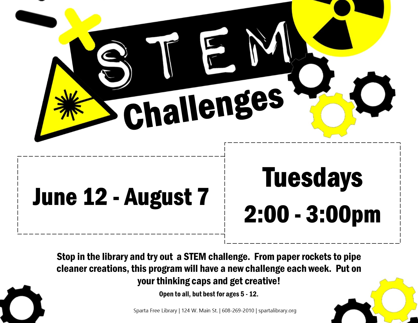 STEM Challenges Poster - Summer 2018