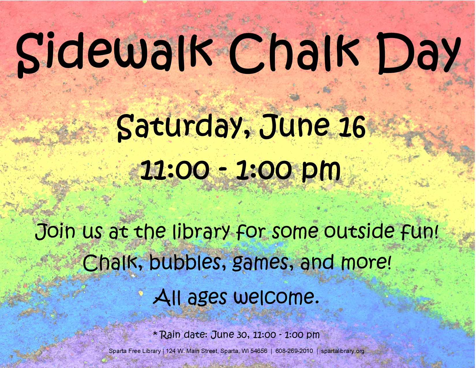 Sidewalk Chalk Day Poster - Summer 2018