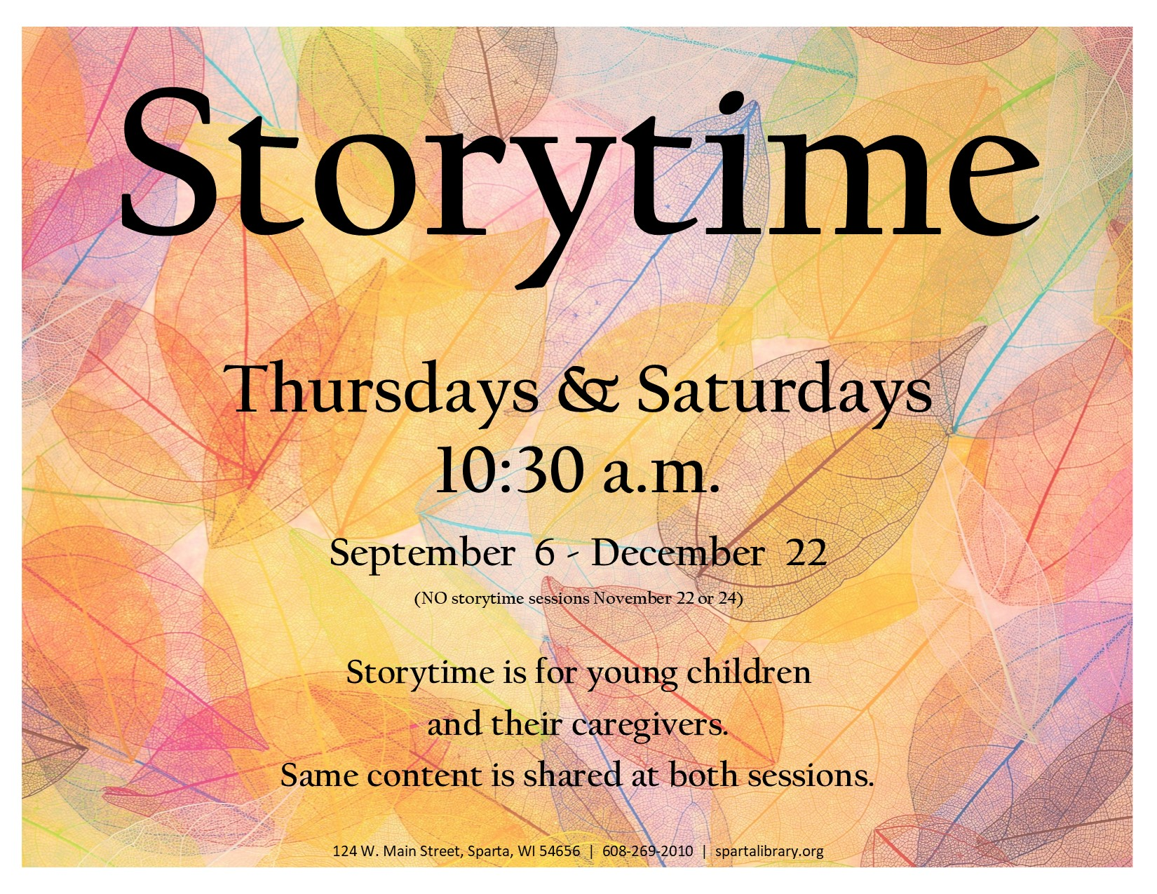 Storytime @ Sparta Free Library | Sparta | Wisconsin | United States