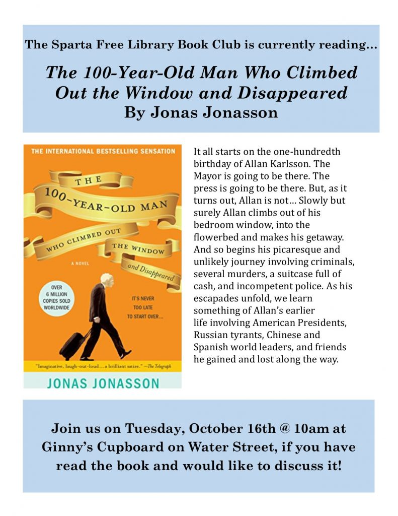 Adult Book Club: The 100-Year-Old Man...
