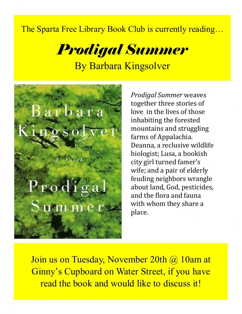Adult Book Club: Prodigal Summer