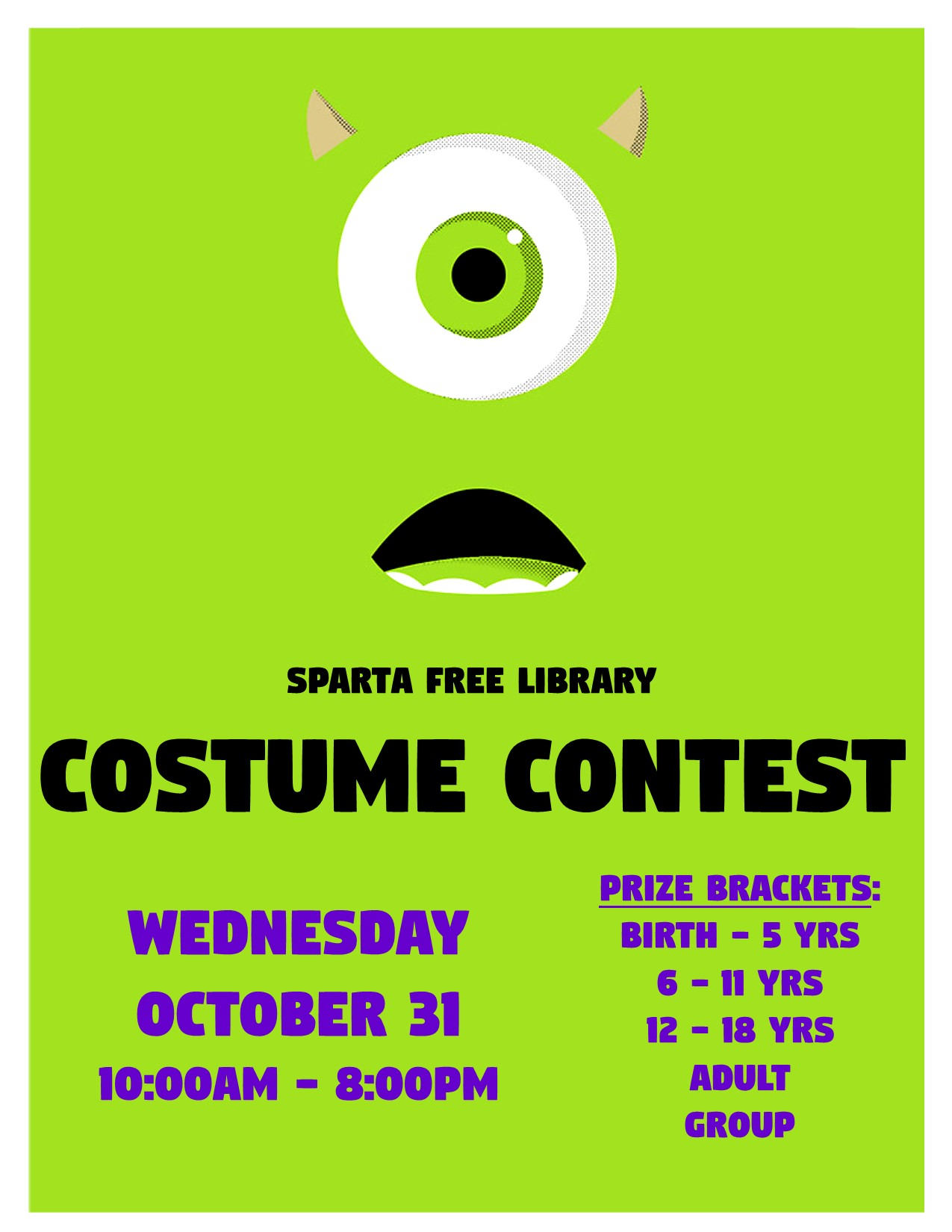 Costume Contest @ Sparta Free Library | Sparta | Wisconsin | United States