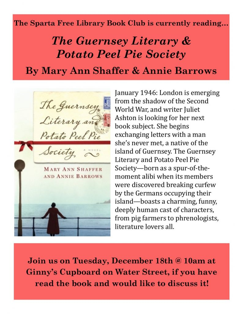 Adult Book Club: The Guernsey Literary...