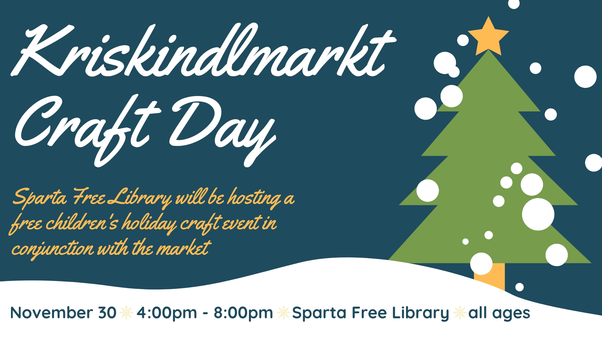 Kriskindlmarkt Craft Day poster 2018