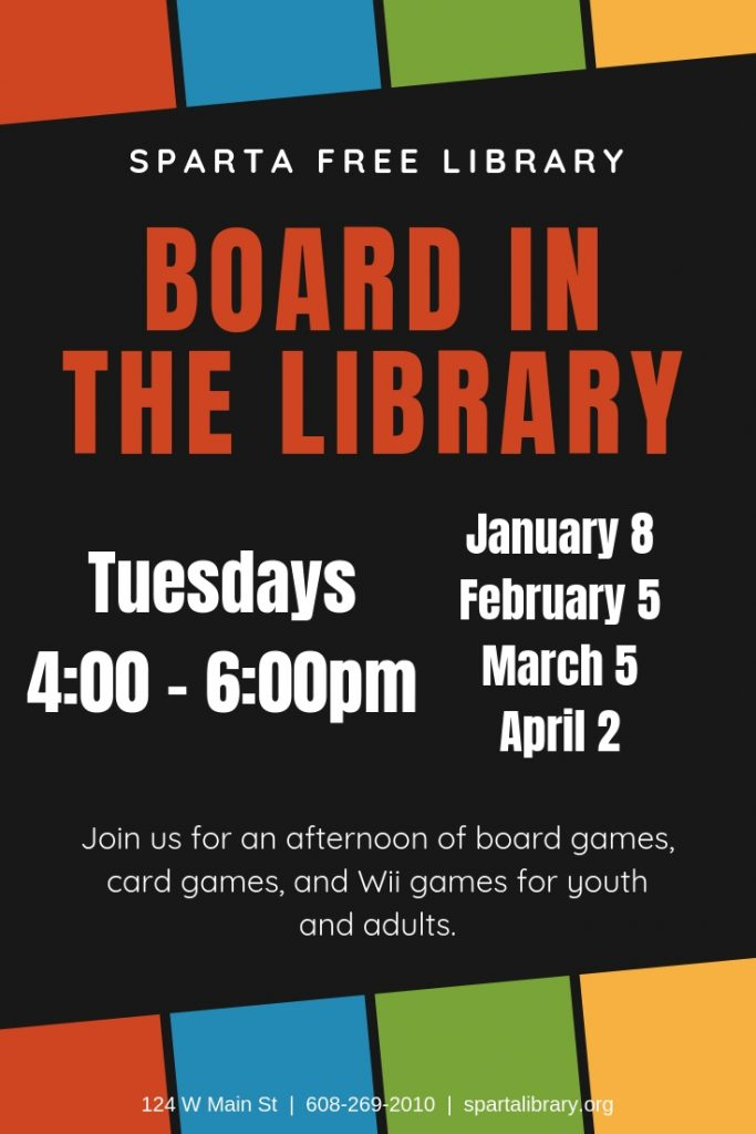 Board in the Library Poster - Spring 2019