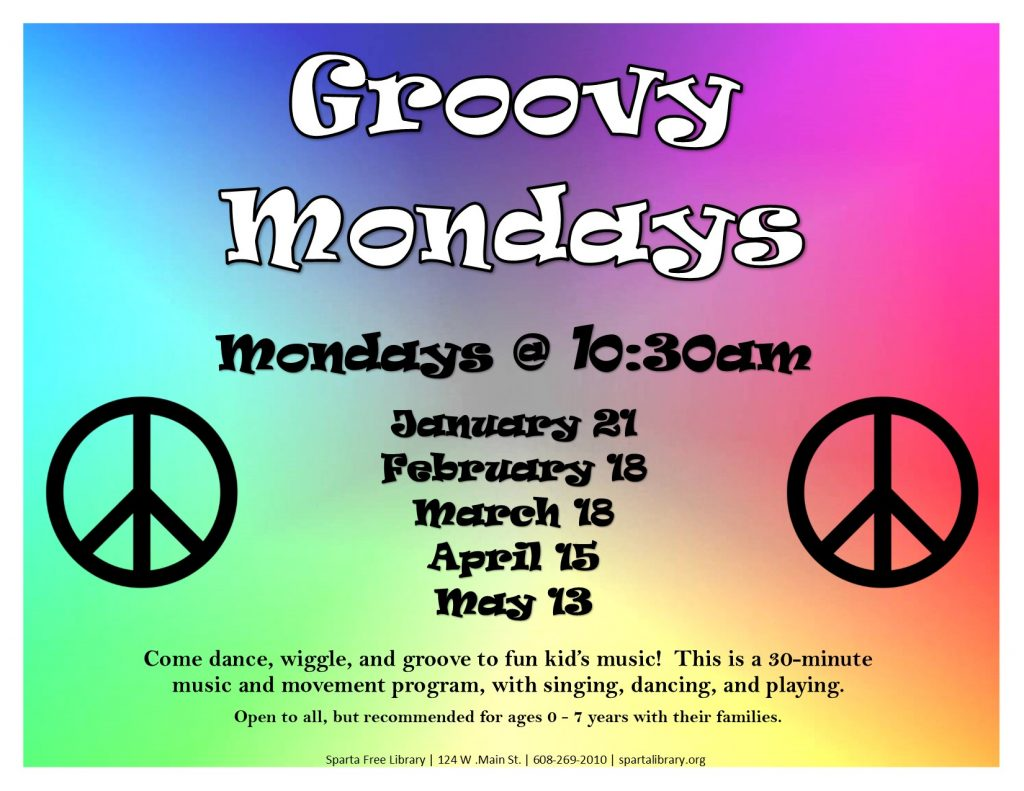 Groovy Mondays Poster - Spring 2019