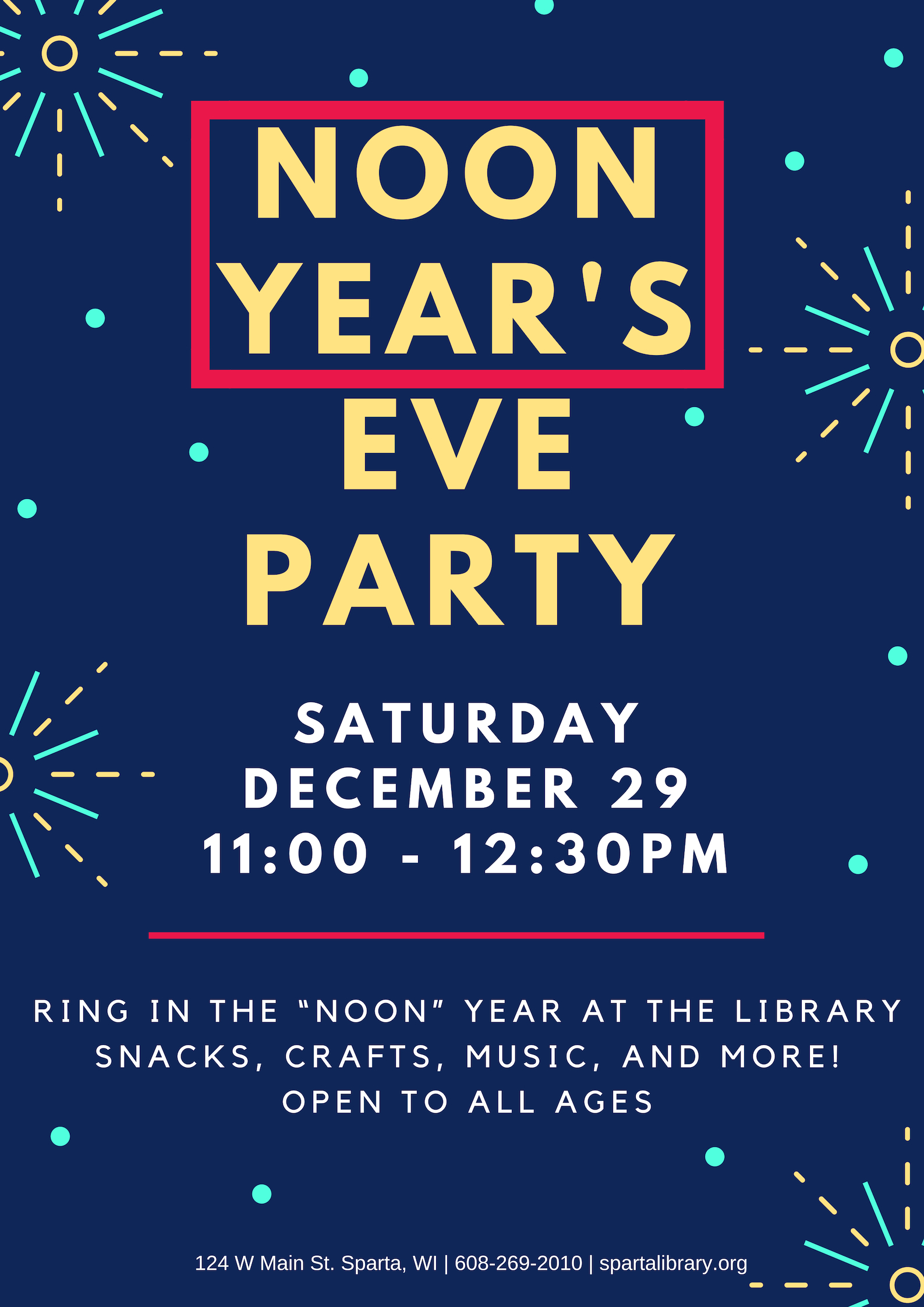 Noon Year's Ever Party @ Sparta Free Library | Sparta | Wisconsin | United States