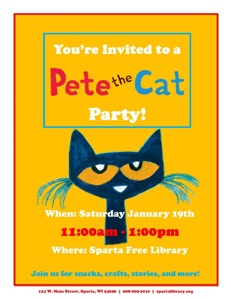 Pete the Cat Party Poster