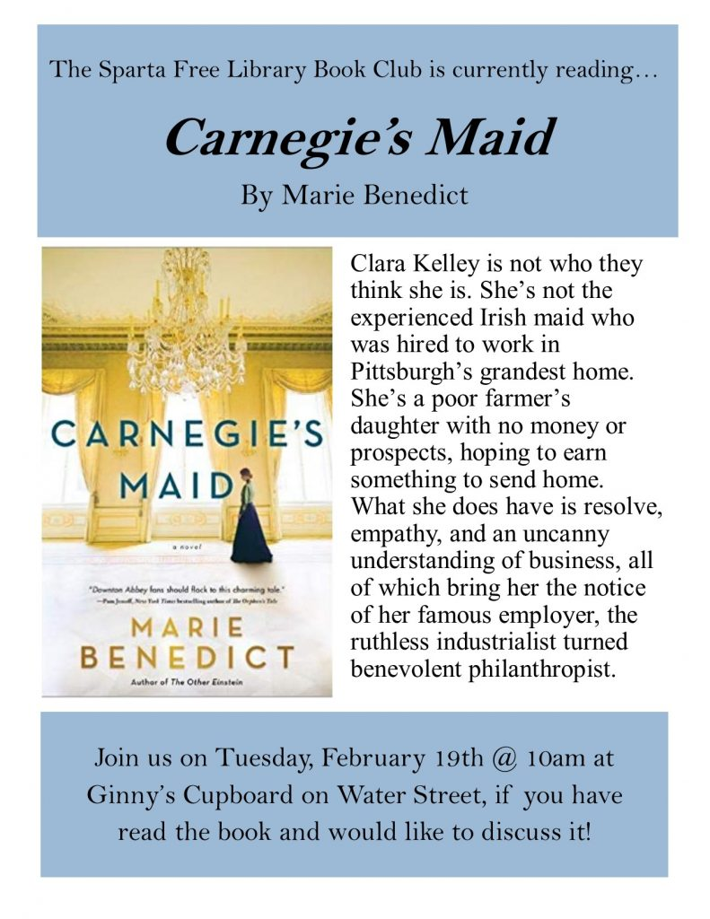 Adult Book Club: Carnegie's Maid