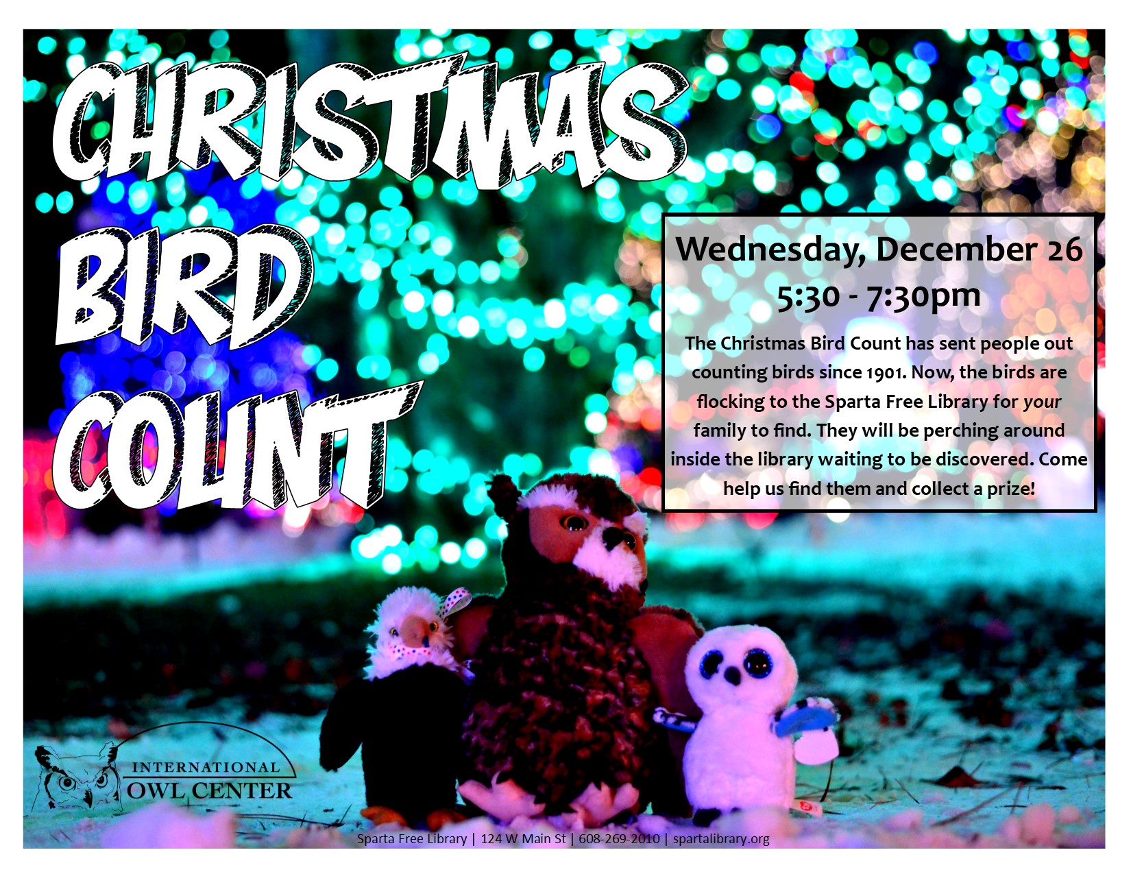 Christmas Bird Count @ Sparta Free Library