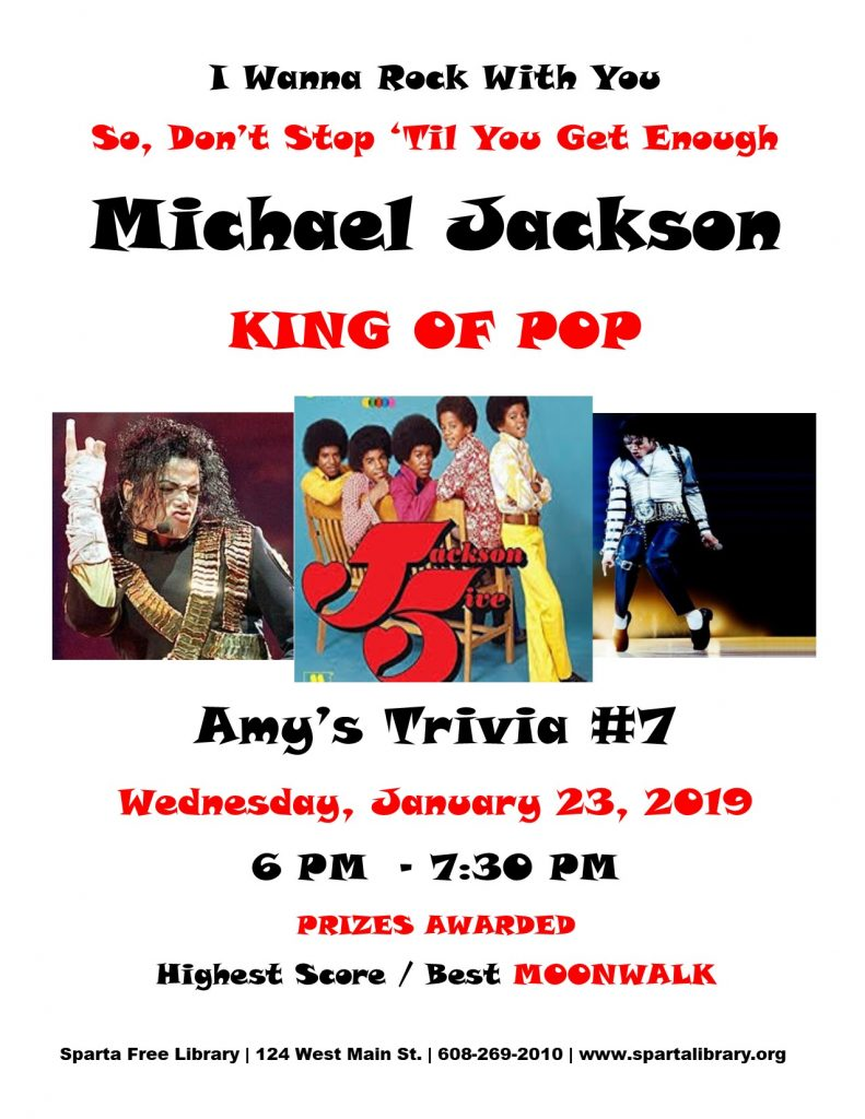 Michael Jackson Trivia Night