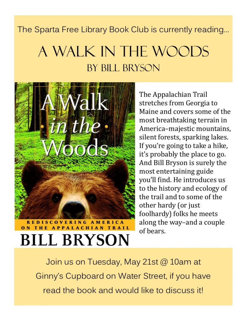 Adult Book Club: A Walk In The Woods