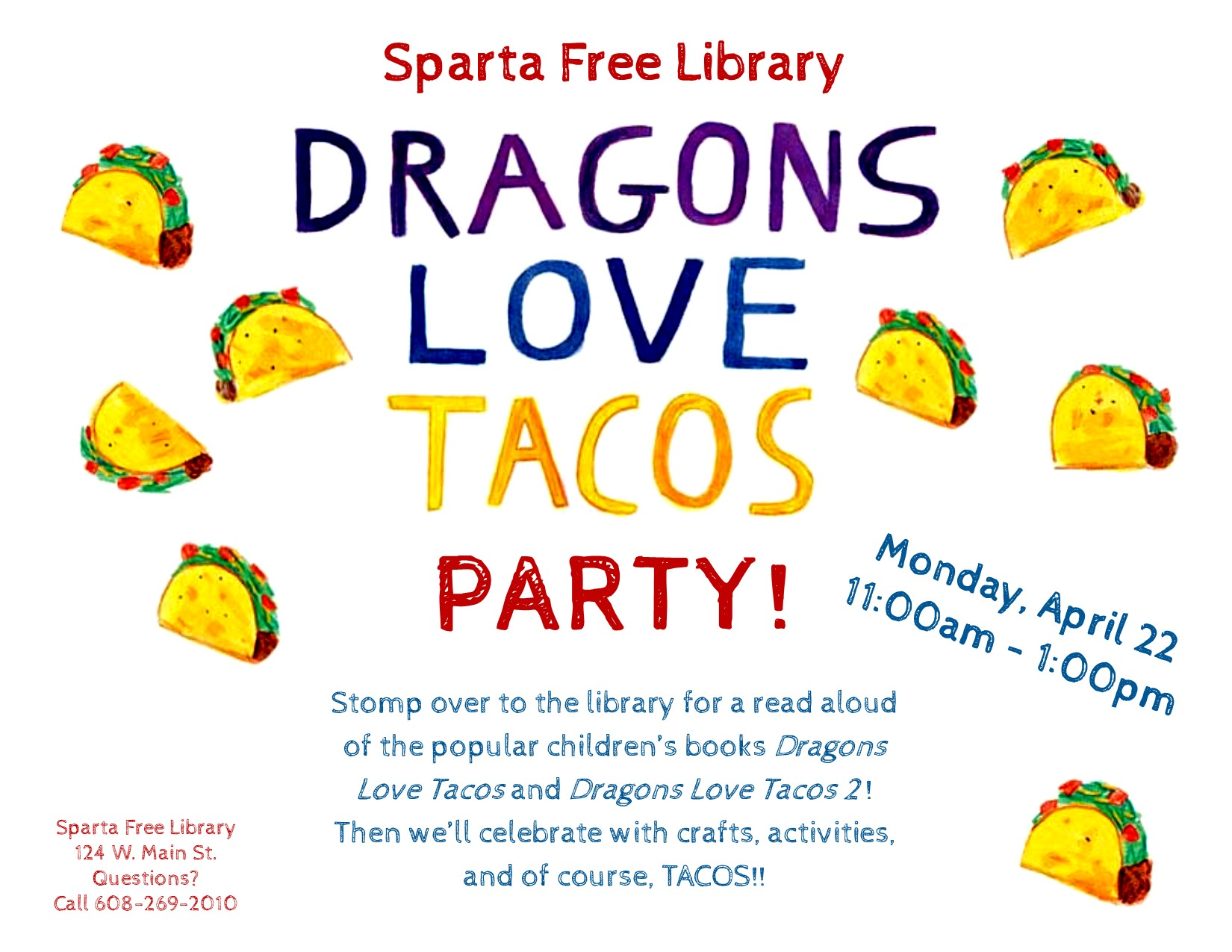 Dragons Love Tacos Party @ Sparta Free Library