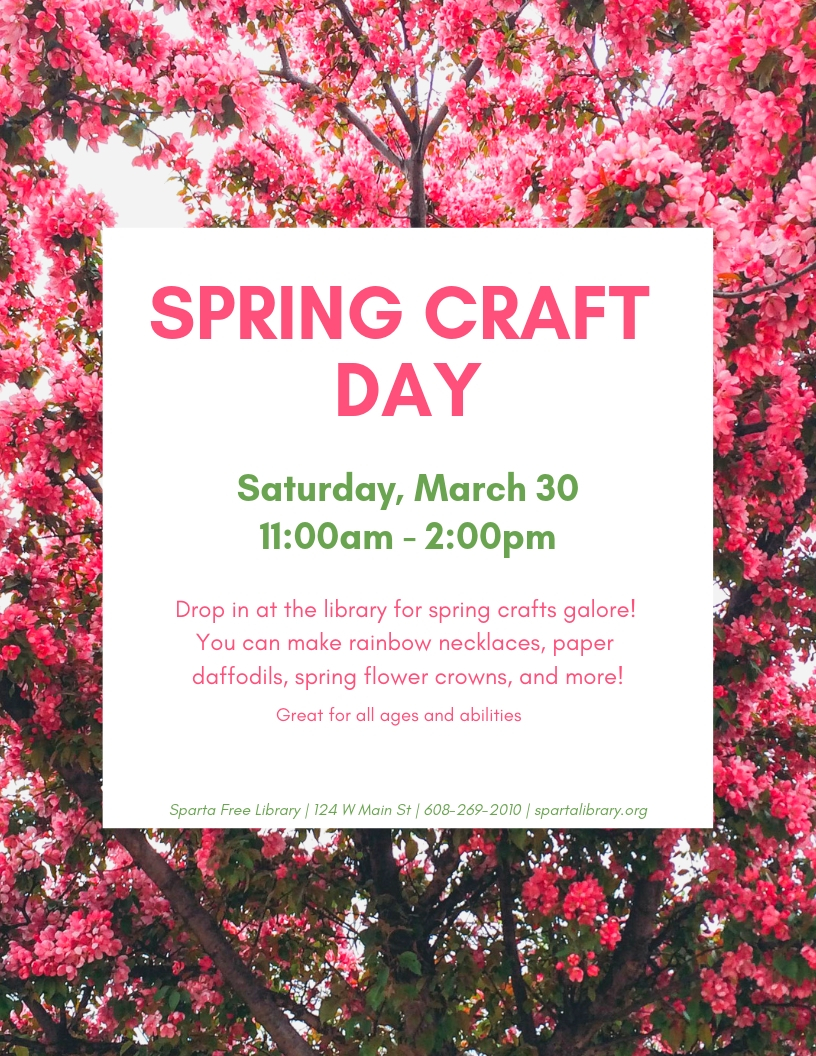 Spring Craft Day @ Sparta Free Library