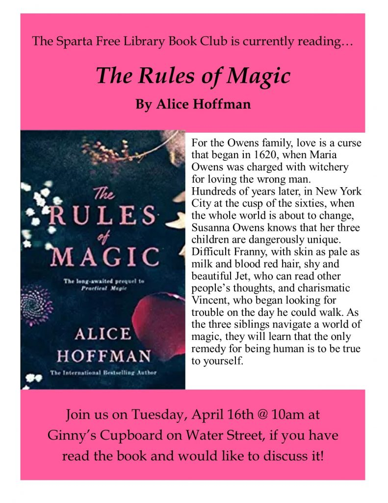 Adult Book Club: The Rules of Magic