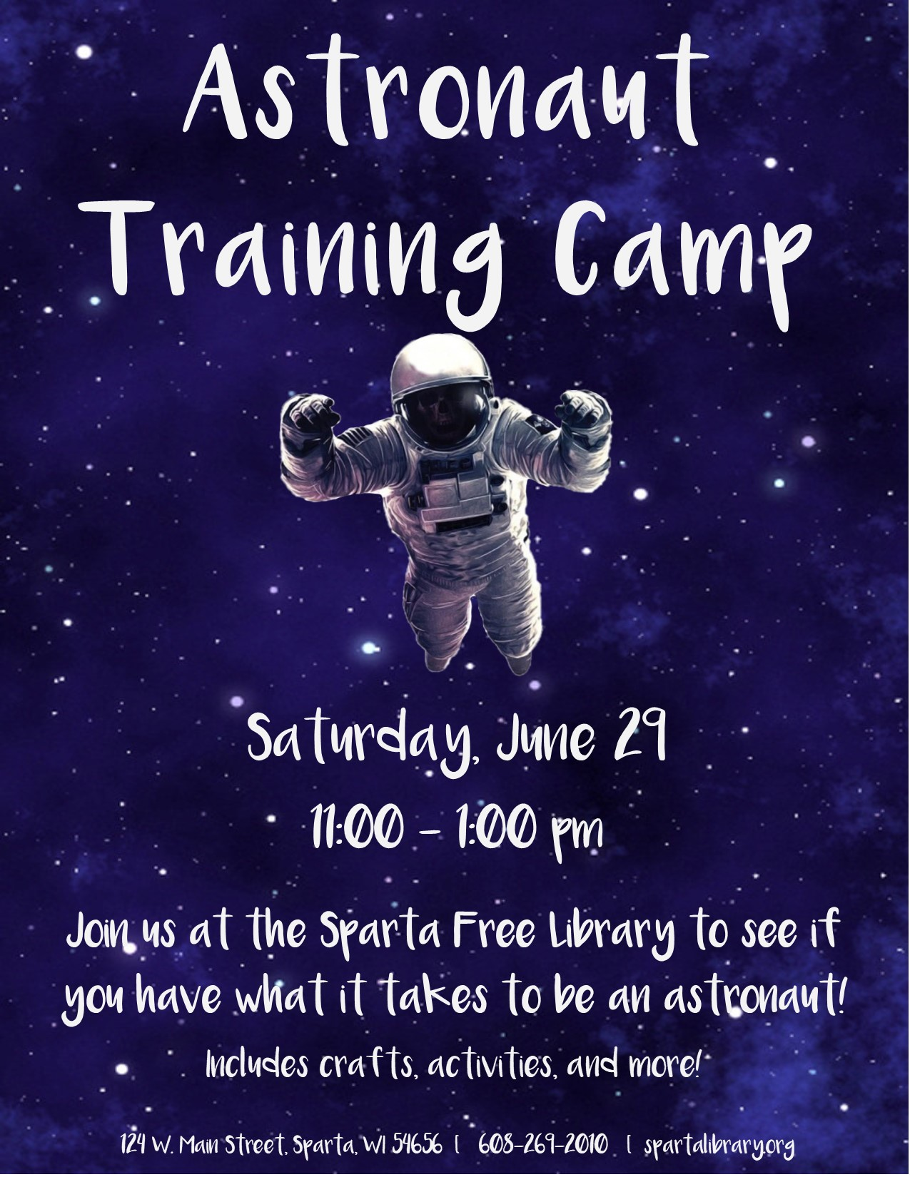 Astronaut Training Camp Poster