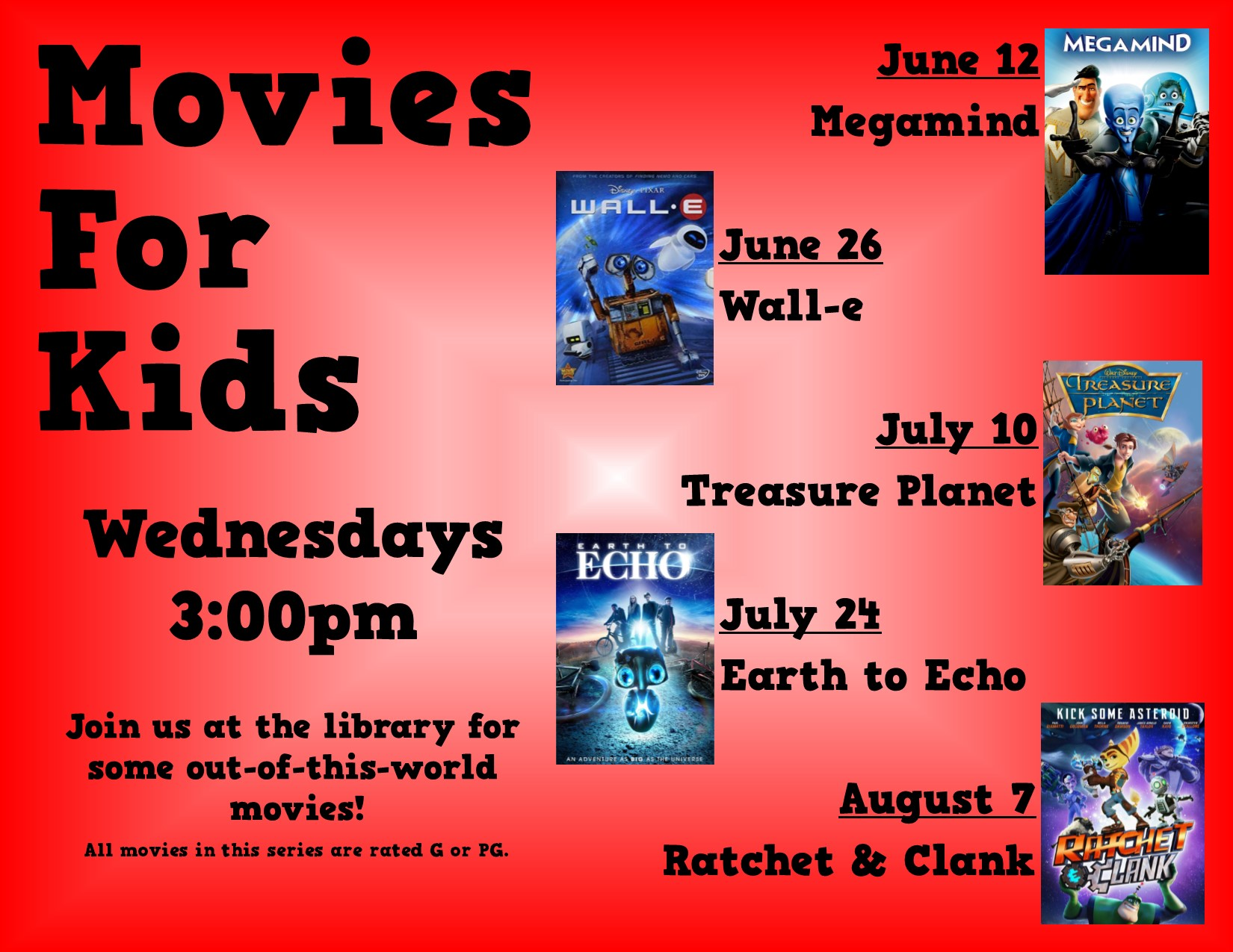 Kids Movie: Wall-e @ Sparta Free Library