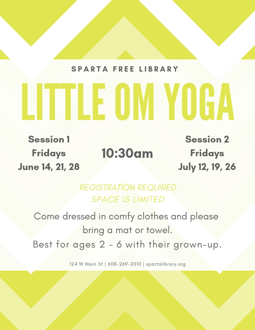 Little OM Yoga - Session 2 @ Sparta Free Library