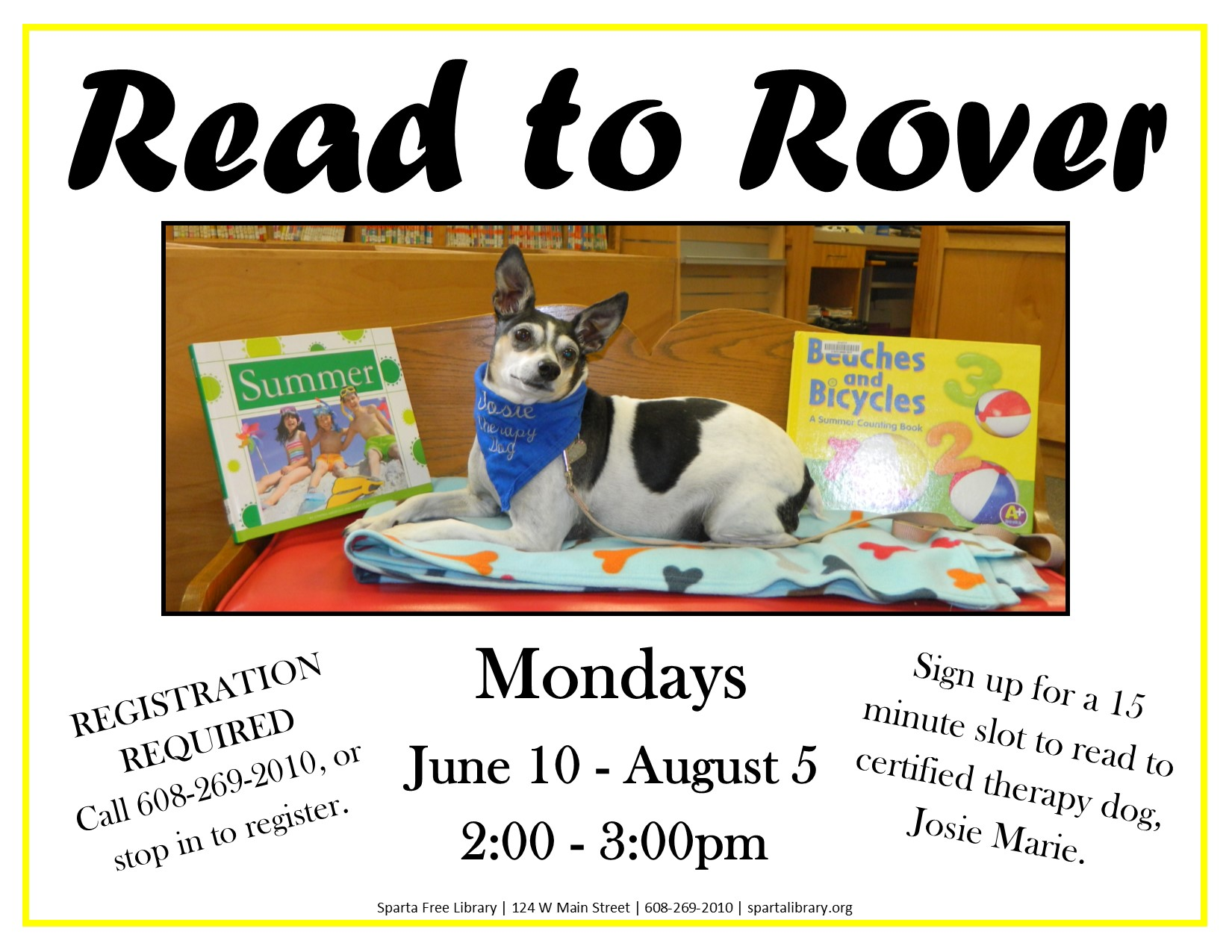 Read to Rover @ Sparta Free Library