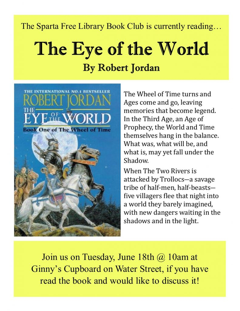 Adult Book Club: The Eye of the World