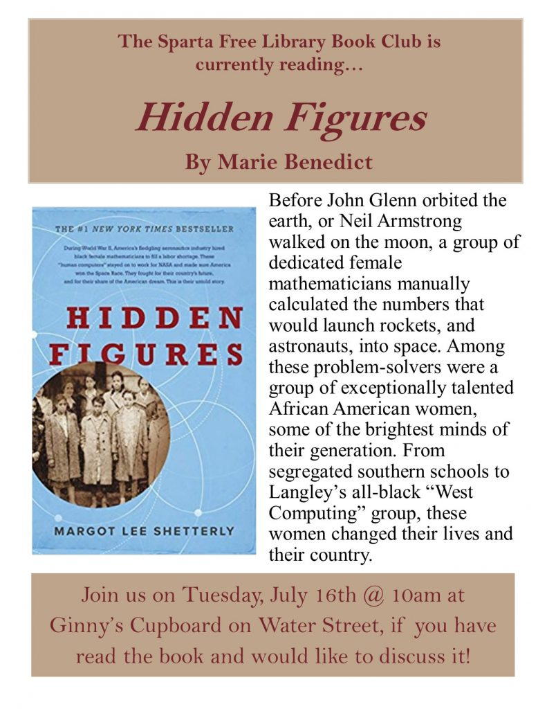 Adult Book Club: Hidden Figures