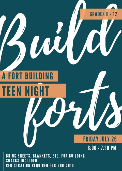 Teen Fort Building Night @ Sparta Free Library